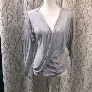 WHBM grey long sleeve top